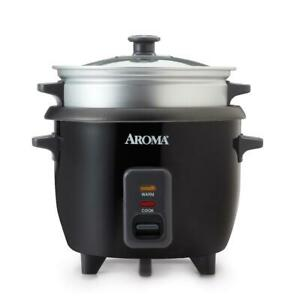 Aroma Electric Rice Cooker And Food Steamer Non Stick Pot Style Automatic 6 Cup