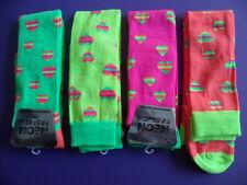 NEW ALER 1PAIR Fashion NEON ORANGE Ladies Ankle Sock UK Size 4-7 EUR 35-42