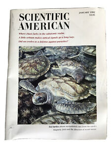 Scientific American, JANUARY 1992 Magazine, Science And Business
