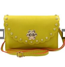 Sling Bag Leather Ladies Casual Fashionable (Yellow)