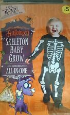 ***Halloween skeleton all in one baby's*** age 6/12 months brand new