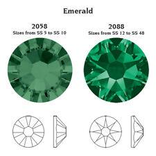Swarovski EMERALD GREEN Crystals Glue On Flatbacks SS5 SS7 SS12 SS16 SS20 SS30