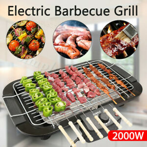 Portable Electric BBQ Grill Teppanyaki Smokeless Barbeque Pan Hot Plate Table