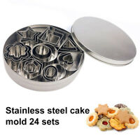 Stainless Steel Cookie Biscuit Fondant Cutter Cake Baking Pastry Mold Moulds Set