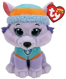 "TY BEANIE - EVEREST  PAW PATROL 6"" PLUSH SOFT TOY 41300"