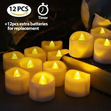Flameless Votive Candles Battery Operated Flickering LED Tea Light with Timer