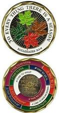 Catholic Christian Religious Challenge Coin: Everything A Season + BONUS BOOK