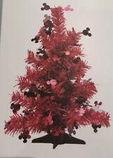 primark DISNEY MICKEY MOUSE Christmas Tree Red Tinsel 1ft Mini Desktop
