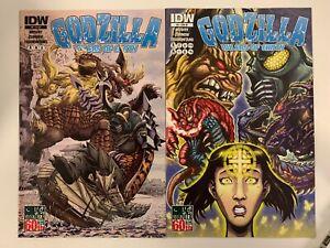 IDW GODZILLA : RULERS OF EARTH #9 : BOTH COVERS BUNDLE : REG + RI : NM CONDITION