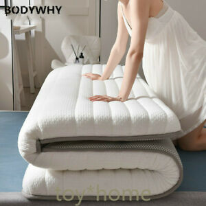 Latex Folding Mattress For Queen/King /Twin/Full Size Bed Breathe Foam Tatami us