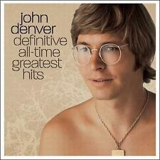 FREE US SHIP. on ANY 3+ CDs! ~Used,Very Good CD John Denver: Definitive All-Time