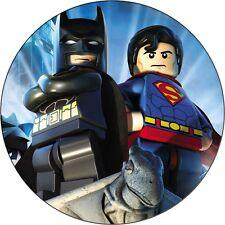 Eßbar Tortenaufleger Lego Batman Superman Muffin DVD NEU Tortenbild Deko Figur