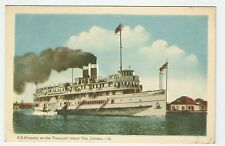 Postcard - S.S. Kingston on the thousand Island Trip , Canada - Unused  #PC69
