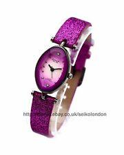 Omax Ladies Sunburst Purple Cut Glass Watch, Seiko (Japan) Movt. RRP £49.99