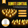 24PC Flameless LED Flickering Tea Lights Wedding Candles Battery Operated Remote