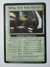 1999 Babylon 5 Ccg - Severed Dreams - Rare Card - Why Are You Here?