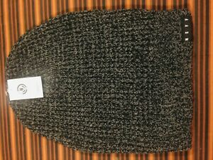 Neff Unisex Charcoal Gray black Cap Grit Beanie Winter Knit Hat New ribbed