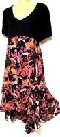 TS dress TAKING SHAPE plus sz M / 20 Branching Out Dress stretch flowy NWT!