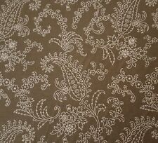 Civil War Faye Burgos for Marcus Brothers BTY Olive Green Ecru Paisley Floral