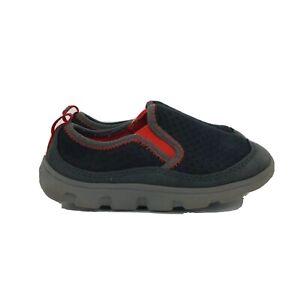 Crocs Boys 16226 Slip On Low Top Duet Sport Black Red Sneaker Size C10 Shoes