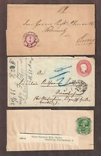 Germany 1864-74 Stationary 3 covers, 1 fold letter, 1 Austrian wrapper