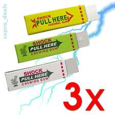 New! Lot of 3x Shocking Gum  Funny Shock Gag Trick Prank Joke Toys - US Seller!