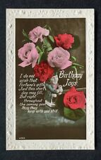 Dated 1936 Birthday Card: Roses/ Toby Judge: Fortune's Gifts