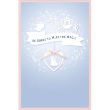 CINDERELLA WEDDING REGRET CARD DISNEY PRINCESS NEW GIFT