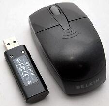 Belkin F5L017-USB 2.4GHz Wireless Optical Laptop Mouse Portable Travel BLACK -A-