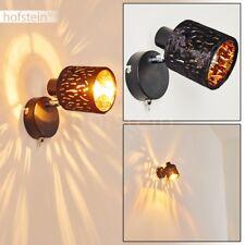 Wohn Schlaf Zimmer Leuchten Flur Dielen Wand Lampen Schalter Samt schwarz/gold