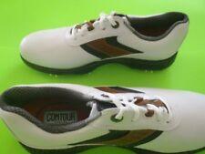 NEW Mens FootJoy Contour 54130 White / Taupe Golf Shoes 13 M