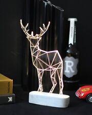 Tischlampe Rentier Design Hirsch Weihnachten Lampe Weihnachtsdeko Licht - GROSS