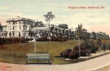 KANSAS CITY, MO  Missouri            PERGOLA ON PASEO           c1910's Postcard