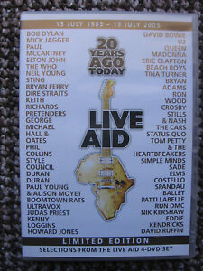 LIVE AID Limited DVD U2 Queen Bowie Jagger Madonna McCartney Dylan Sting NEW!