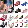 Women High Heels Sandals Suede Thick Heeled Pumps Party Club Dress Shoes Size