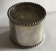 Beaded Silverplate Napkin Ring Serviette Holder