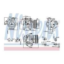 Fits Toyota Hilux 2.5 D4d Genuine OE Quality Nissens A/C Air Con Compressor