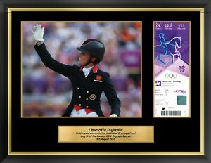 London 2012 Olympics Collectors Edition Ticket & Premium Framed Equestrian Photo