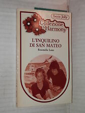 L INQUILINO DI SAN MATEO Roumelia Lane Harlequin Mondadori 1983 harmony jolly di