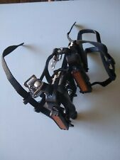 Wellgo road bicycle bike pedals with toe clips and straps
