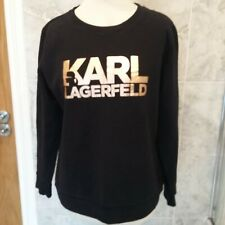 KARL LAGERFELD BLACK ROSE GOLD SWEATSHIRT M