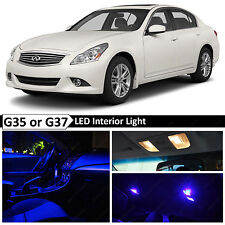 16x Blue Interior LED Lights Package for 2007-2014 G35 G37 Coupe Sedan