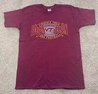 Vintage 1999 Virginia Tech Hokies Football Perfect Season T-Shirt Size XLarge XL