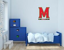 Maryland Terrapins NCAA Football Sports Wall Decal Vinyl Sticker For Room Home