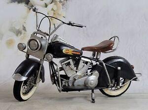 Handmade Indian Motorcycle 1:8 Tinplate Antique Style Metal Model Superb Figure