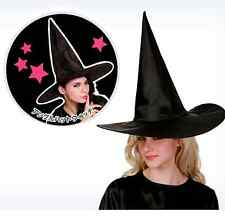 Fashion 1Pcs Adult Womens Black Witch Hat For Halloween Costume Party Accessory