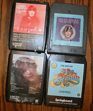 VINTAGE 8 TRACK TAPES, 4 HELEN REDDY,LONG HARD CLIMB,GREATEST HITS,MUSIC MUSIC