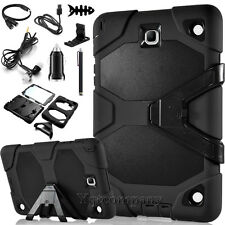 Black Hybrid Rugged Cover Case for Samsung Galaxy Tab A 8.0 SM-T350 Accessories