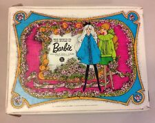 Vintage 1968 The World of Barbie Double Doll Case Storage Box Mattel USA
