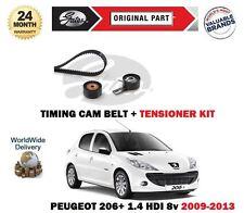 Per PEUGEOT 206 + 1.4 HDi Eco 70 68bhp 2009-2013 tempismo Cinghia Camma Kit Tenditore